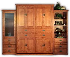 Solid Wood Bedroom Furniture Made In America Traditional Wall Bed Design Made Of Oak Wood In Brown Finished