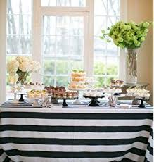striped plastic tablecloth 108 x 54 black kitchen