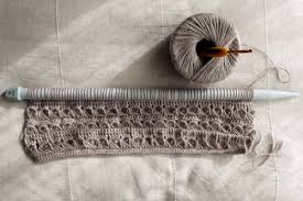 broomstick knitting broomstick lace occasional crafter