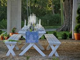 Picnic Table Dining Room Fabulous Outdoor Dinner Table Dining Room 8 Fascinating Outdoor