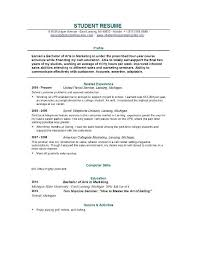 Resume Examples For College Student by Examples Of College Student Resumes Resume Example For College