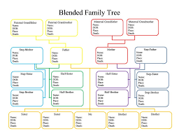 printable free family tree template 40 free family tree templates word excel pdf template lab