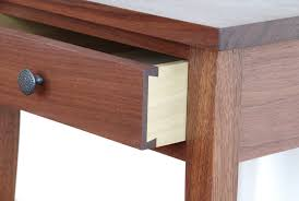 shaker style side table handmade shaker walnut night table custom made in vermont