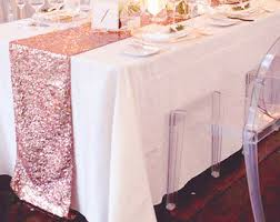 6ft Table Cloth by Rose Gold Sequin Table Cloth Ready To Ship Shimmer Sparkly