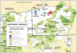 map of oregon mountains remote day hikes in northeast oregon