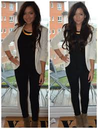 fancy casual jacket black and white gold necklace smart casual