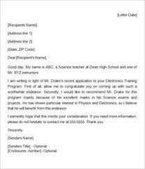 personal recommendation letter samples letter example and letter