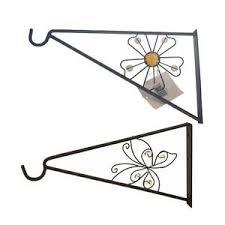 metal wall hanging bracket flower butterfly effect design basket