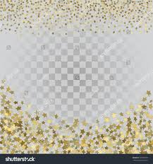 halloween card transparent background vector frame gold confetti gold 3d stock vector 599330570