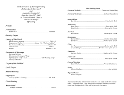 Examples Of Wedding Programs Templates 100 Sample Of A Wedding Program What Information Goes In