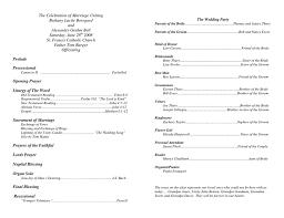 Sample Of A Wedding Program Wording For Wedding Programs Finding Wedding Ideas