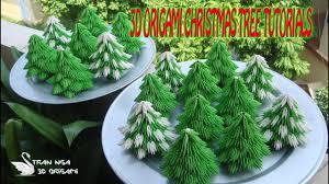 how to make 3d origami christmas tree paper christmas tree