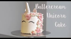 Unicorn Home Decor Buttercream Unicorn Cake Tutorial Youtube