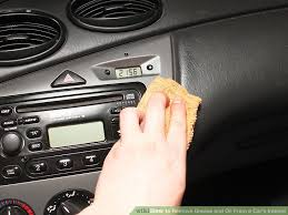Interior Cleaner For Cars 4 Ways To Remove Grease And Oil From A Car U0027s Interior Wikihow