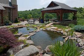 Pond Landscaping Ideas Dining Room Contemporary Pond Landscaping Ideas With Water