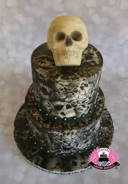 airbrushed skulls birthday cake harley davidson lover