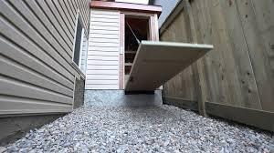 Overhead Shed Door by Shed Drawbridge Door Youtube