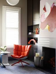 interior designs comfortable reading room by the window with