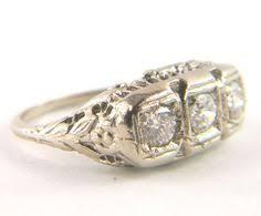antique art deco edwardian sapphire u0026 diamond 3 stone 14k gold