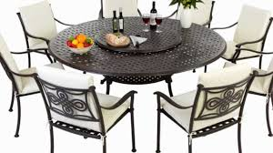 8 Seater Round Glass Dining Table Round 8 Seater Metal Outdoor Furniture Set With High Back Cushions