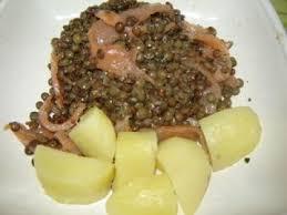 cuisiner les lentilles vertes salade de lentilles vertes saumon fumé et pommes de terre de cléa