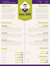 Resume Curriculum Vitae Samples by Colorful Modern Resume Curriculum Vitae Template With Design Ele