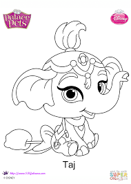 palace pets taj coloring page free printable coloring pages