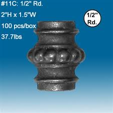 11c decorative iron fencing parts 1 2 cast iron fence collars