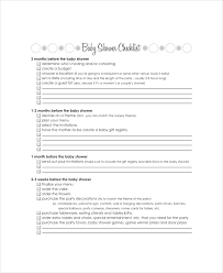 baby gift registry list 4 baby shower registry checklists free sle exle format