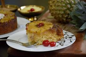 upside down fresh pineapple cake eggless प इनएप पल