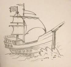 pencil sketches of ships kids and drawing art