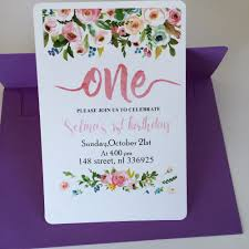 Invitation Card For 1st Birthday 1st Birthday Invitations Promotion Shop For Promotional 1st
