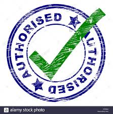 right meaning authorised stamp meaning all right and mark stock photo royalty