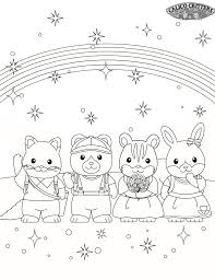 calico critters coloring pages trends coloring calico critters