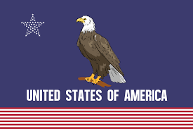 Flag Of The United States Of America The Flag Of The United States In The Style Of The California