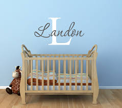 Monogram Wall Decals For Nursery Baby Boy Nursery Name Wall Decals Nursery Wall Decal Baby