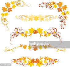 autumn ornaments vector getty images