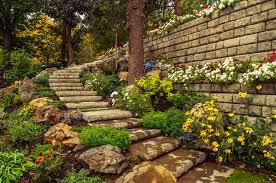 Concrete Block Garden Wall by Redi Rock Uses 1 Ton Concrete Blocks To Create Gravity Walls