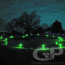 led glow marker sticks with ground stake glowproducts