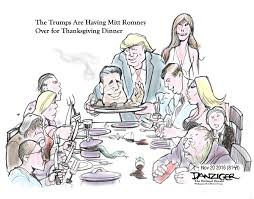 rush limbaugh thanksgiving cartoon trumps having romney over for thanksgiving