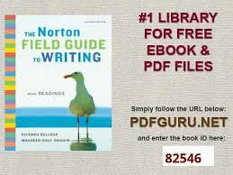 the norton field guide to the norton field guide to writing with readings 2nd edition youtube