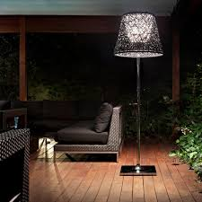 Patio Floor Lighting Ktribe Outdoor Floor L Transitional Patio New York By