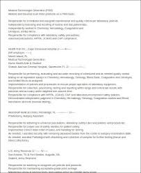 Medical Technologist Resume Examples by 18 Monster Com Sample Resumes Banking Resume Objective Latest