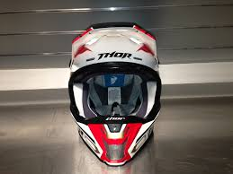 monster energy motocross helmet product report thor verge helmet transworld motocross