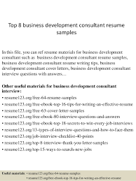 Sample Resume Business by Top 8 Business Development Consultant Resume Samples 1 638 Jpg Cb U003d1427858332