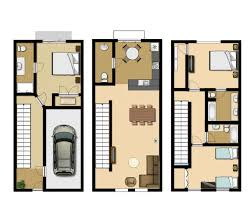 Floor Plan Com by 3 Bedroom Executive Townhouse Vista Cay Resort