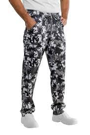 pantalon cuisine noir pantalon de cuisinier noir et blanc camouflage 100 coton