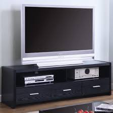 Tv Units Tv Stands Contemporary Media Console Black Finish Coaster 700645