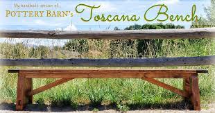 Toscana Pottery Barn Rustique Restoration Handbuilt Toscana Bench