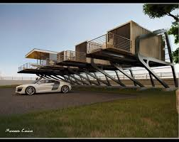 Beach Houses On Stilts by Live Above Ground In A Container House With A Balcony Great Idea